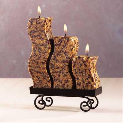Snakeskin Candle Set