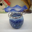 Blue Swirl Tea Light Oil Warmer