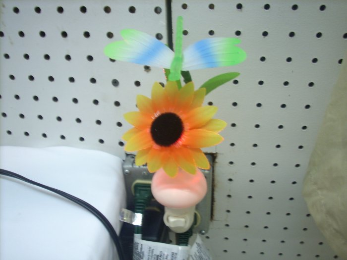 Fiber Optic Dragonfly  With Sun Flower Night Light