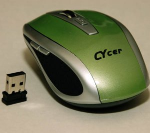 Nano USB Wireless Optical Mouse for Notebook NetBook (Green)