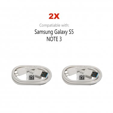 2X NEW USB 3.0 Charging & Data Sync CABLE CORD for Samsung Note 3 Galaxy S5 SV