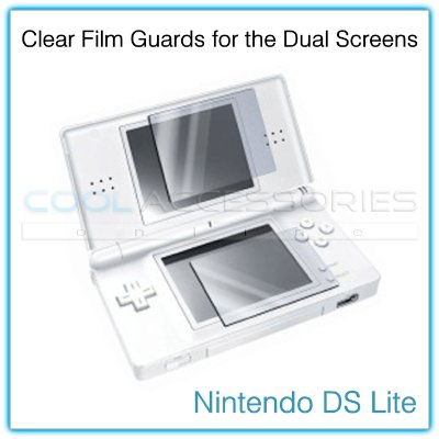 Pack of Two (2) Film Guards for the Dual LCD Screens of the Nintendo DS Lite