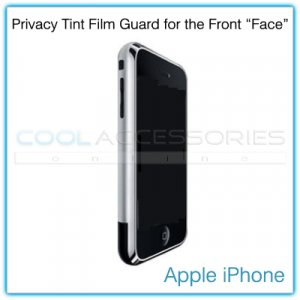 """Privacy Tinted Film Shield for the Front """"Face"""" of the Apple iPhone"""