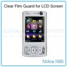 Clear Protective Film Guard for the LCD Display Screen of the Nokia N95 with a Mini Cleaning Cloth