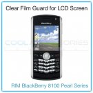 Clear Protective Film Guard for the LCD Display Screen of the RIM BlackBerry 8100 Pearl Series