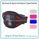 Black & Pink Premium Mesh Sports/Workout Armband Case & Holder for Apple iPod Nano (3rd Generation)