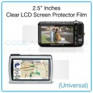"2.5"" Inches Universal Clear LCD Screen Protector Film Guard for Digital Cameras, GPS, etc."
