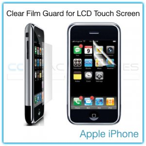 Clear Protective Film Guard for the LCD Touch Screen of the 1st Generation Apple iPhone 4GB/8GB/16GB