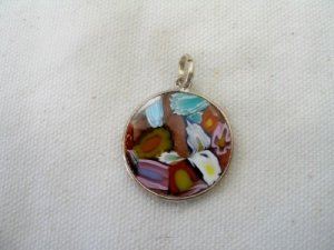Picasso Pendant .925 Sterling Silver Made In Italy