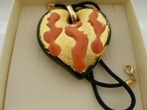 Heart Murano Glass Necklace Made in Italy