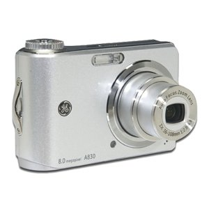 GE A830 Silver 8MP Digital Camera