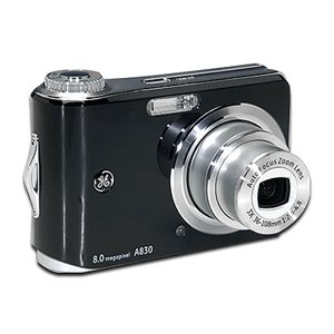 GE A830 Black 8MP Digital Camera