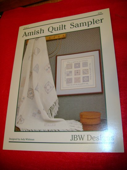 JBW Designs Amish Quilt Sampler Cross Stitch Pattern Afghan Picture