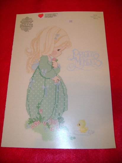 Precious Moments Summer's Joy Cross Stitch Picture Afghan Pattern