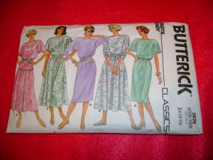 Butterick Misses Dress Top and Skirt Pattern Size 14 16 18