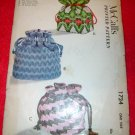 Vintage 1952 McCall's Three Drawstring Bags Printed Pattern