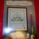 House of The Lord Religious Counted Cross Stitch Sampler Picture Pattern