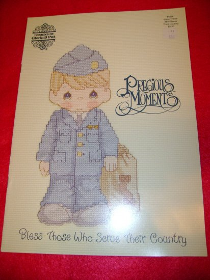 Precious Moments Bless those who Serve their Country Military Picture Cross Stitch Pattern