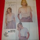 Calvin Klein Very Easy VOGUE Misses Blouse Pattern Size 12