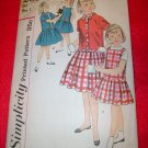 Vintage Simplicity Girls Jumper Dress Overblouse Pattern Size 7