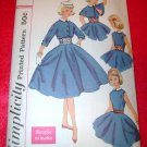 Vintage Simplicity Girls One Piece Dress Jacket Cape Cumberbund Pattern Size 10
