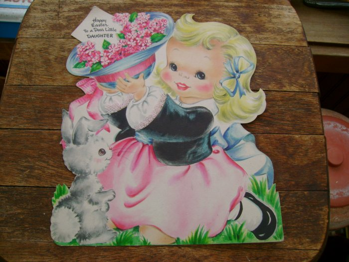 Vintage 1948 Hallmark Daughter Easter Greeting Card