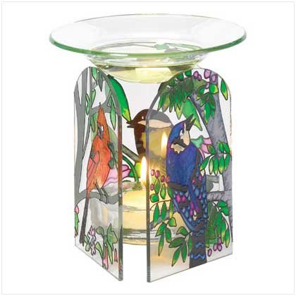 Birds Stained Glass Oil Warmer