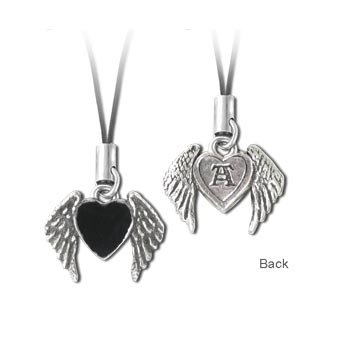 Winged Blackheart Phone Charm