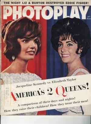 Elizabeth Taylor Jackie Kennedy Photoplay June 1962