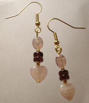Lavender Heart Earrings