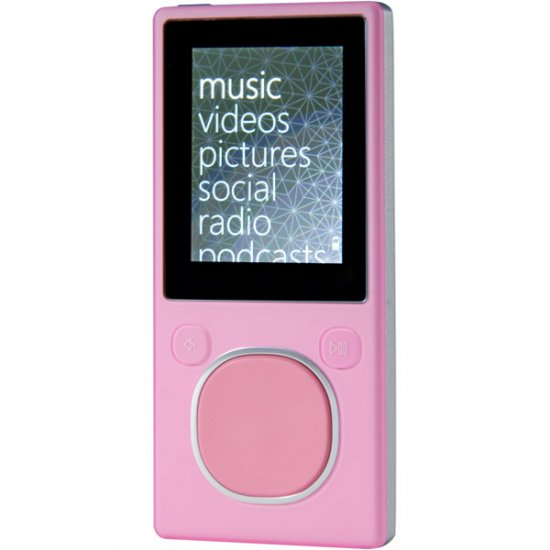 Microsoft 8GB Zune Player Pink N59779
