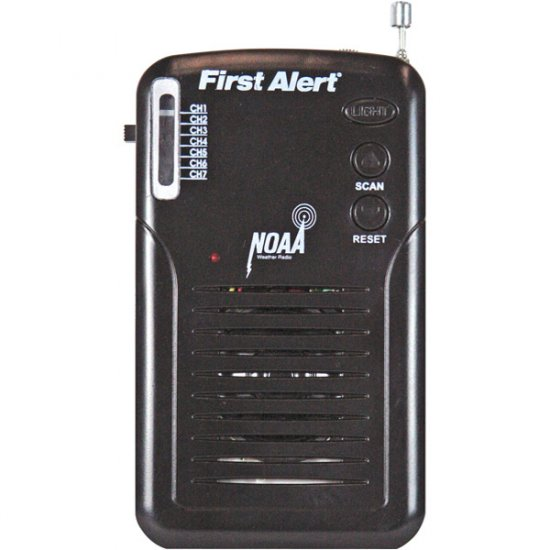 First Alert Handheld FM Weatherband Radio with Alerting WX-07
