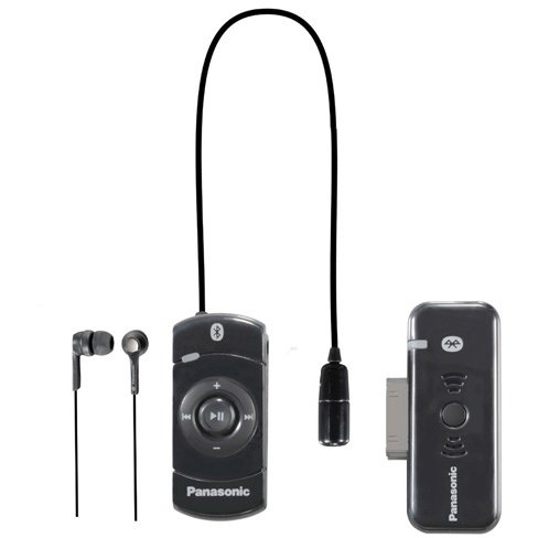 Panasonic Black Bluetooth® iPod® Earbuds with Remote Control Black RP-BT10BLK