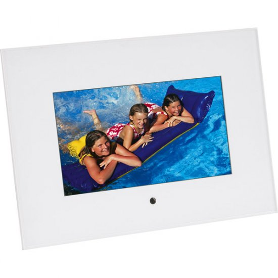 "Sunpak 7"" Digital Photo Acrylic Frame White SF-070-310001UH"