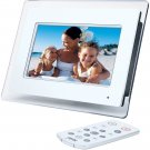 "jWIN 7"" Digital Photo Frame with Built-In MP3 Player JP147"