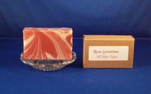 Natural Organic Rose Geranium Bar Soap 3.5 oz.