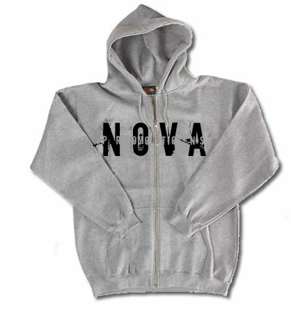 NOVA Gray Zip-Up Hoodie Size LARGE