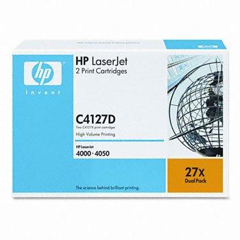 HP C4127D, Genuine LJ 4000/ 4050 Series Toner Cartridge Dual Pack