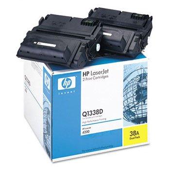 HP Q1338D, Genuine LJ 4200 Series Toner Cartridge (2 Pack of Q1338A)