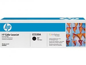 HP CC530A, Genuine Black Toner Cartridge, Color LJ CM2320 MFP/ CP2025 ColorSphere