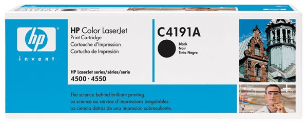 HP C4191A, Genuine 640A Color LJ 4500/ 4550 Black Toner Cartridge