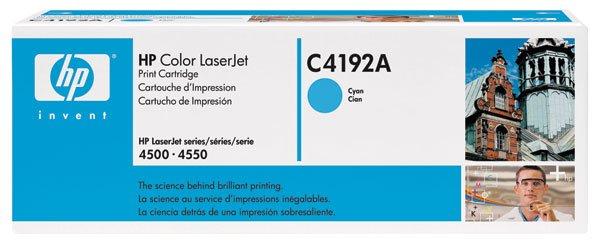 HP C4192A, Genuine 640A Color LJ 4500/ 4550 Cyan Toner Cartridge