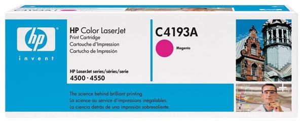 HP C4193A, Genuine 640A Color LJ 4500/ 4550 Series Magenta Toner Cartridge