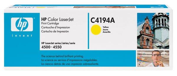 HP C4194A, Genunine 640A Color LJ 4500/ 4550 Yellow Toner Cartridge