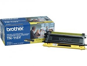 Brother, TN115Y Genuine Yellow High Yield Toner Cartridge