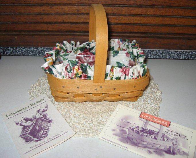 1996 Longaberger Horizon of Hope Basket Combo Set  Breast Cancer Awareness