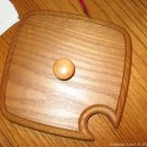 Heart of Dresden Solid Oak Wooden Lid FOR Longaberger Medium Spoon or Large Peg