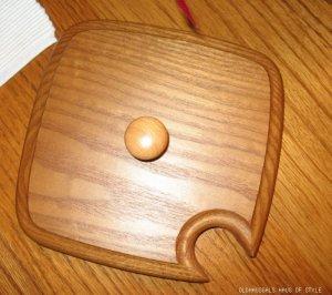 Heart of Dresden Solid Oak Wooden Lid FOR Longaberger Medium Spoon or Large Peg