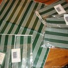 NEW Longaberger Green Stripe Napkins Set of 4 + FREE SHIPPING