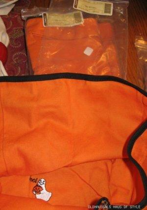 NEW Longaberger Medium Bushel Basket LINER Orange Halloween Boo + FREE SHIPPING